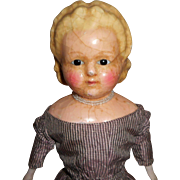 Alice Band Wax Over Doll c1860