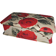 Small Vintage French Fabric Covered Box