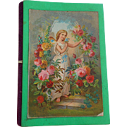 Needlebook With Fairy Lithograph Cover c1880