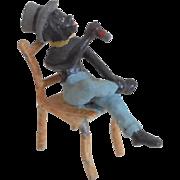 Novelty Boy With Cigar Miniature Figure c1915
