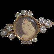 Queen Victorian Photo Pin c1900