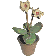 Cold Painted Bronze Plant In Pot c1915