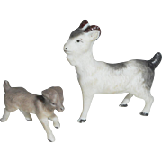 Miniature German Bisque Goats c1915