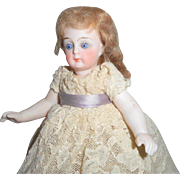 Beautiful Jullien Jeune French All Bisque Doll c1900
