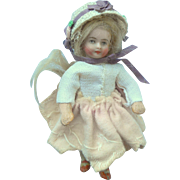 Tiny German Dolls House Doll c1910