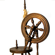 Ca. 1930s Absolutely Lovely Spinning Wheel for a  Doll