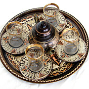 Stunning Copper Middle East Tea Set