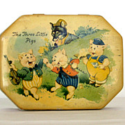 SOLD 1960' - 70 s Original Coted'Or Tree Little Pigs Tin
