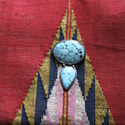 Turquoise and Sterling  Pendant/Pin