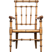 SALE Fine Original 19th C Regency Doll-House Faux Bamboo Chair