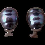 Baroque Grey Pearl Sterling Earrings