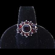 SALE Antique Victorian Garnet Ladies Ring