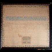 1833 American Sampler by Alinah Farr Bennett