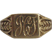 Antique 14k Signet Ring