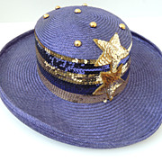 Sonni Straw Hat With Sequins