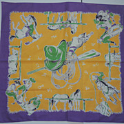 Western Scarf With Cowboy Ranch Hands