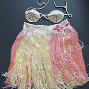 SOLD Vintage 1940s Hula Skirt and Top