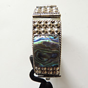 Abalone and Sterling Silver Link Bracelet