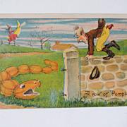 Vintage Julius Bien Halloween Postcard