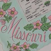 Souvenir Hankie State Of Missouri