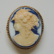 Vintage Cameo Pin Pendant
