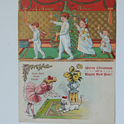 2 Vintage Christmas Postcards