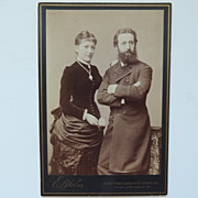 SOLD Cabinet Card of Couple Hamburg Germany