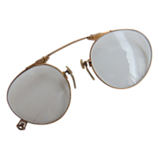 12K Gold Filled Pince Nez Spectacles American Optical