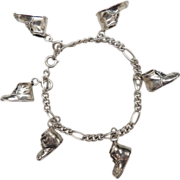 SALE Sterling Silver Charm Bracelet