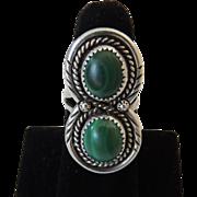 Native American Navajo Malachite Ring