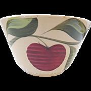Watt Pottery 3 Leaf Apple Bowl