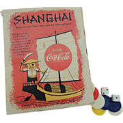 1957 Advertising Coca Cola Shanghai Game