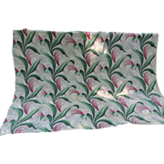 Vintage Barkcloth Material Bark Cloth Panel
