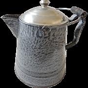 Vintage Graniteware Enamelware Coffee Pot