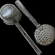 Gray Graniteware Ladle and Strainer