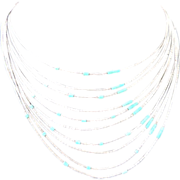 Liquid Sterling Silver Turquoise Necklace