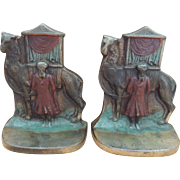 Vintage Bookends Orientalism Themed Camel and Sheik