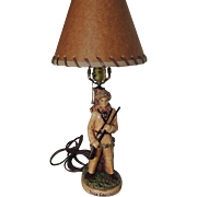 SOLD Davy Crockett Lamp