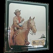 Vintage Advertising Reverse Painted Mirror With Print