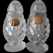 Bohemian Glass Salt And Pepper Shakers Czechoslovakia