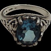 Blue Topaz Sterling Silver Ring