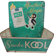 Vintage Kool Tobacco Tin Advertising Match Holder Store Display