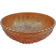Imperial Glass Carnival Punch Bowl
