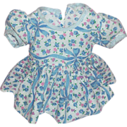 Precious Little Cotton Print Dress for HP or Composition Dolls