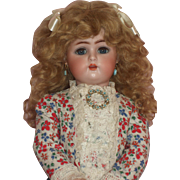 "SALE Darling Cabinet Size - 17"" Simon & Halbig / Kammer & Reinhardt Bisque Head Doll"