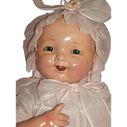 "Very RARE - Baby Brite - 19"" Composition Mama Doll by Madame Hendren"
