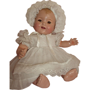 """1930's All Composition 15"""" Baby Doll with Bent Knees - Unmarked"""
