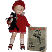 """1930's 14"""" Effanbee Patsy Ann Doll A/O with Patsy Ann's Fun Time ..."""
