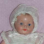 "SOLD 11"" Effanbee Dainty Baby c1920's in Original Costume"