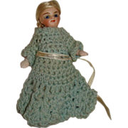 "Dearest ever all bisque Mignonette 4"" doll"